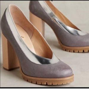 Anthropologie Pumps - Silver/Gray Heels - 11